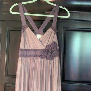 Moulinette Soeurs tulle silk rose Anthro dress
